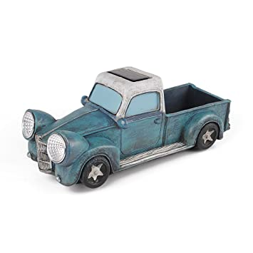 SUN E Solar Powered Vintage Long Truck Vehicle Garden Decor And Path Light  Home Decor