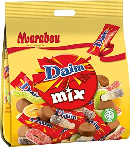 10 Bags x 200g of Marabou Daim Mix - Original - Swedish - Chocolates - Fruity - Sour - Wine Gums - Candies - Sweets