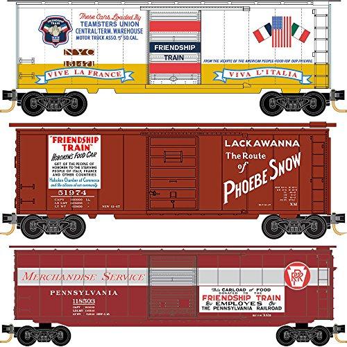 Micro-Trains MTL N-Scale Friendship Train Box Cars Add-on Runner 3-Pack
