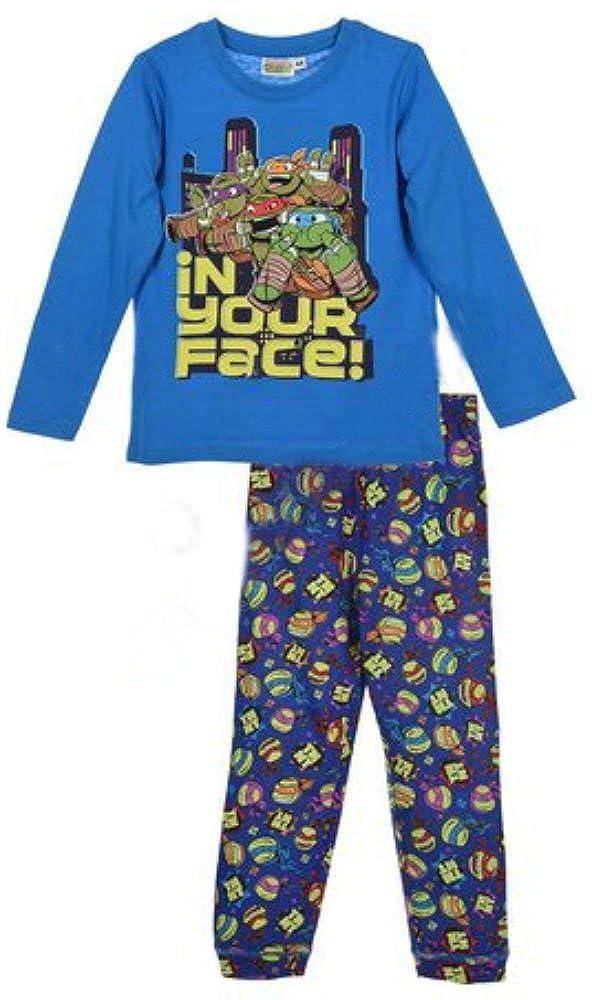 Pijama TORTUGAS NINJA Niño Manga Larga AZUL (3 AÑOS): Amazon ...