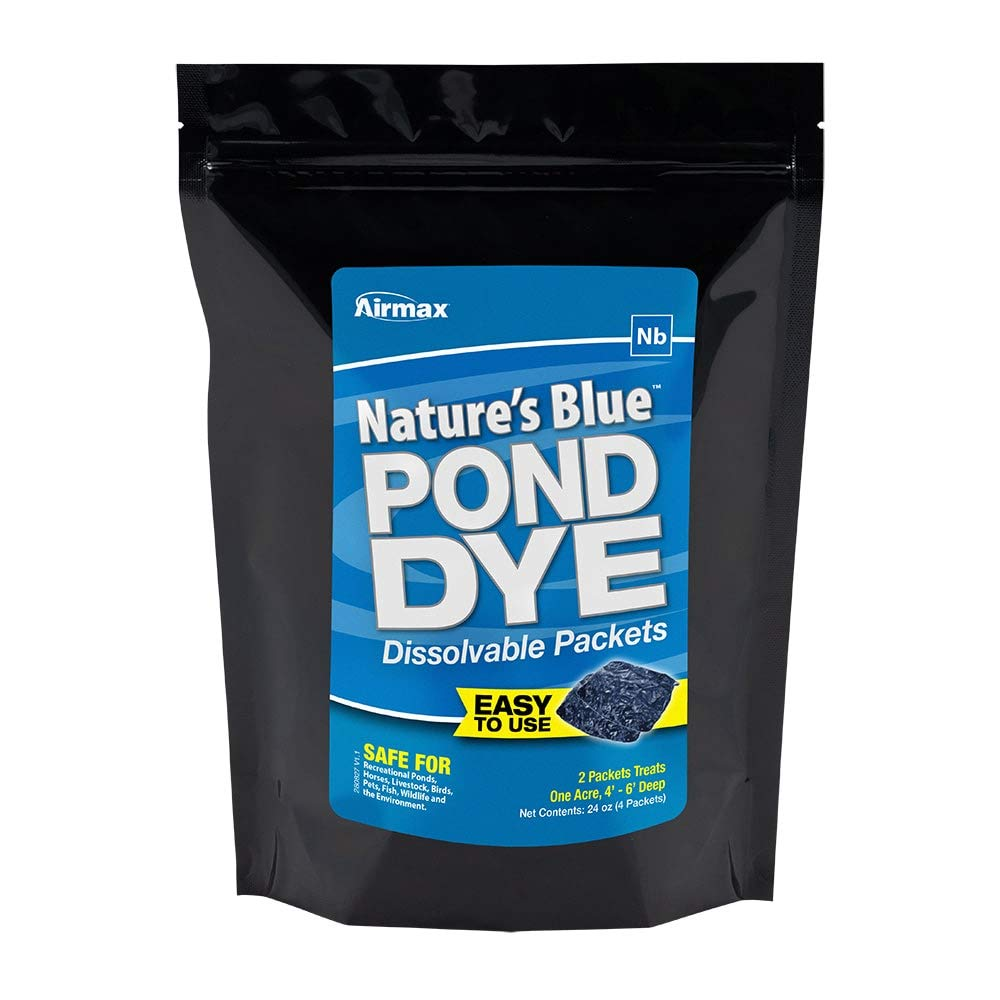 Airmax Pond Dye Water Soluble Packs (Nature's Blue - 4 Packets) by Airmax