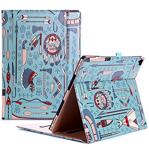 Apple iPad Pro 12.9 Case - ProCase Stand Folio Case Cover for iPad Pro 12.9 Inch (Both 2017 and 2015 Models), with Multiple Viewing Angles, Auto Sleep/Wake, Apple Pencil Holder - Native by ProCase
