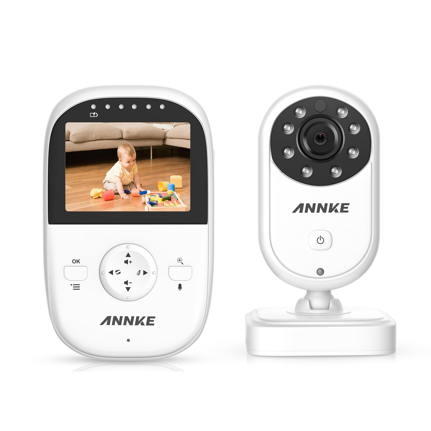 ANNKE Premium Wireless Compact Video Baby Monitor with 2.4 Color LCD Screen Controller Unit, Digital Camera, Infrared Night Vision, Two Way Talk Back, 2.4GHz Encrypted WiFi Long Transmission Range AU-DN41BB0-11EF-P-OP#USVC1