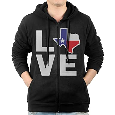I Love Texas Zip Hoodie PsqYC