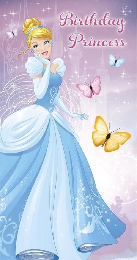 Disney Princesas Tarjeta de cumpleaños: Amazon.es: Oficina y ...