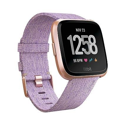 Fitbit Versa Edición Especial - Reloj Deportivo Unisex, Morado (Lavanda), Talla Única