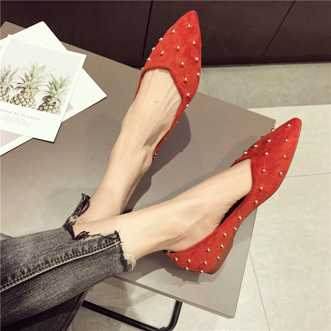 Kyle Walsh Pa Women Chic Flats Shoes Ladies Stylish Pointed Toe Slip-on Autumn Spring Footwear