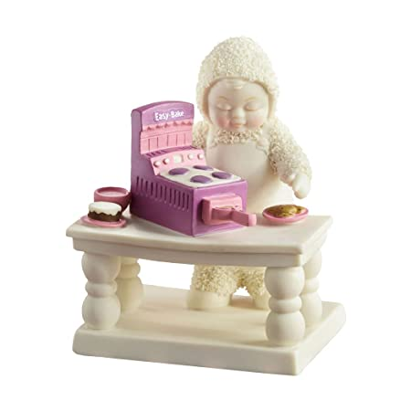 Department 56 Snowbabies Guest Collection Easy Bake Oven Figurine, 4.25