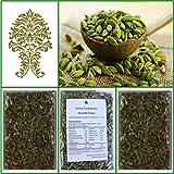 Natural Green Whole Cardamom Pods (elaichi, elachi, hal) - 10.5 Oz, 300g.