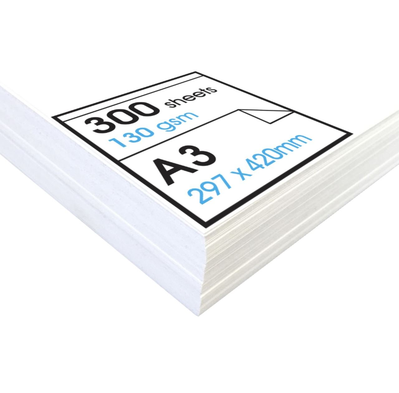 Artway Studio - Acid Free Cartridge Paper for Drawing - Loose Sheets Ideal for Dry Applications - 130gsm - A3 (300 Sheets)