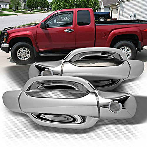 MaxMate Fits 04-13 Chevy Colorado/GMC Canyon Chrome 2 Doors Handle Cover With Passenger Side Keyhole