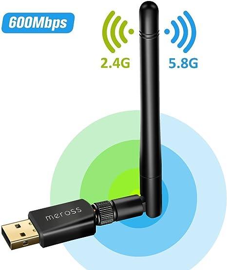 VICTSING Adaptador Antena WIFI USB de largo alcance 600 MBPS ...