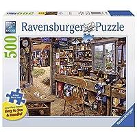 Cobertizo para papá de Ravensburger - Rompecabezas de gran formato de 500 piezas para adultos: cada pieza es única. La tecnología Softclick significa que las piezas encajan perfectamente.