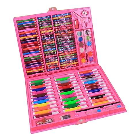 Conjunto de arte Set de acuarela, colores vibrantes, niños ...