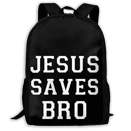 7dc721b32b67 Amazon.com: Jesus Saves Bro Christian Travel Laptop Backpack - Extra ...