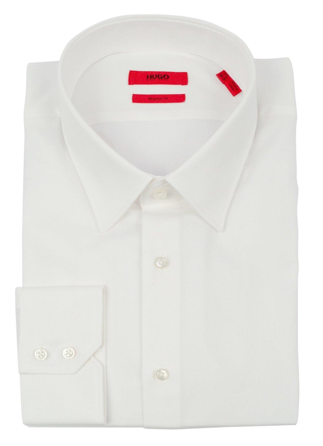 Hugo Boss Men's Red Label Regular Fit C-Menzo Broadcloth Dress Shirt-W-16-32/33
