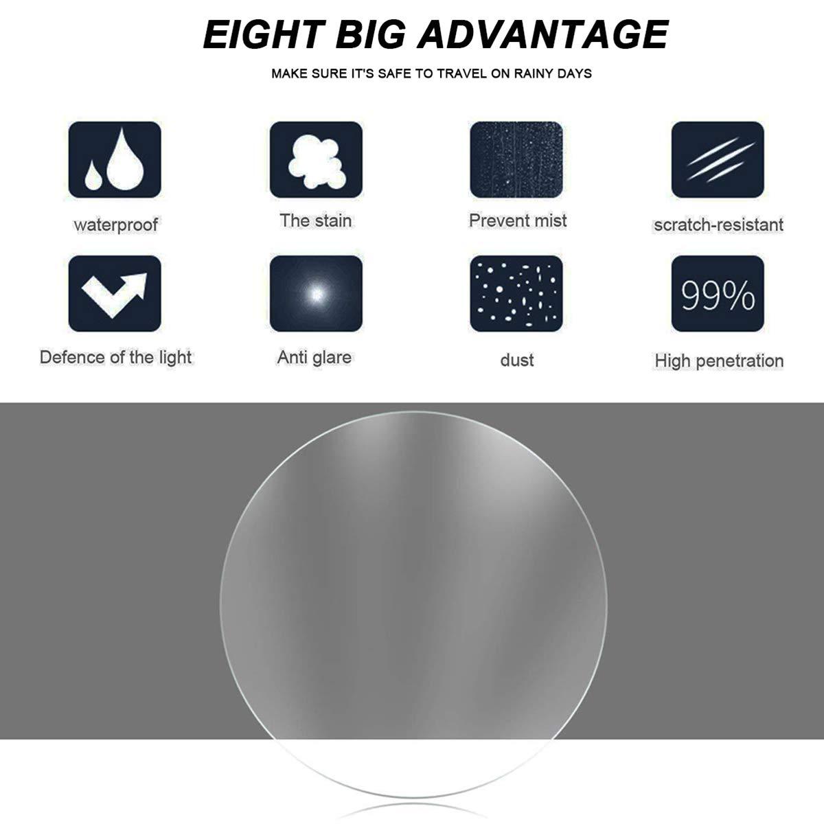 anti-nebbia universale impermeabile antiriflesso 2 pezzi trasparente antigraffio nano-film HD Pellicola anti-pioggia per specchietto retrovisore dell/'auto