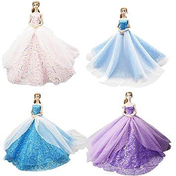 DoCori Vestido de Baile para muñecas como muñecas Barbie, Vestidos ...