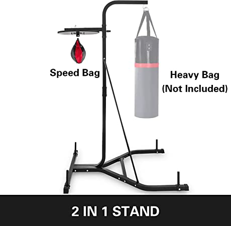 VEVOR Punching Bag Stand 2 IN 1 Heavy Duty Punch Bag Stand Free Standing Boxing Bag Boxing Equipment Free Stand Agility Training