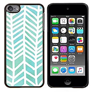 Planetar® ( Motif Aquarelle Blanc Vert ) Apple iPod Touch 6 6th Touch6 Fundas Cover Cubre Hard Case Cover