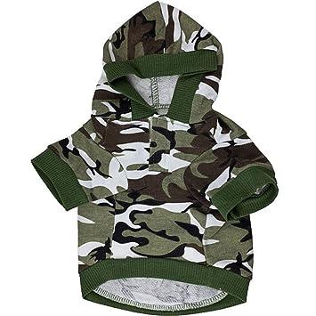 abrigo para perro ropa mascotas algodón Los militares camuflan 100% nuevo y de alta calidad,suave,cómodo y caliente ,Color:verdor M: Amazon.es: Hogar