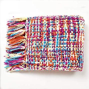 Amazon.com: FzYRY Colorido tejido a mano Cuatro Estaciones ...