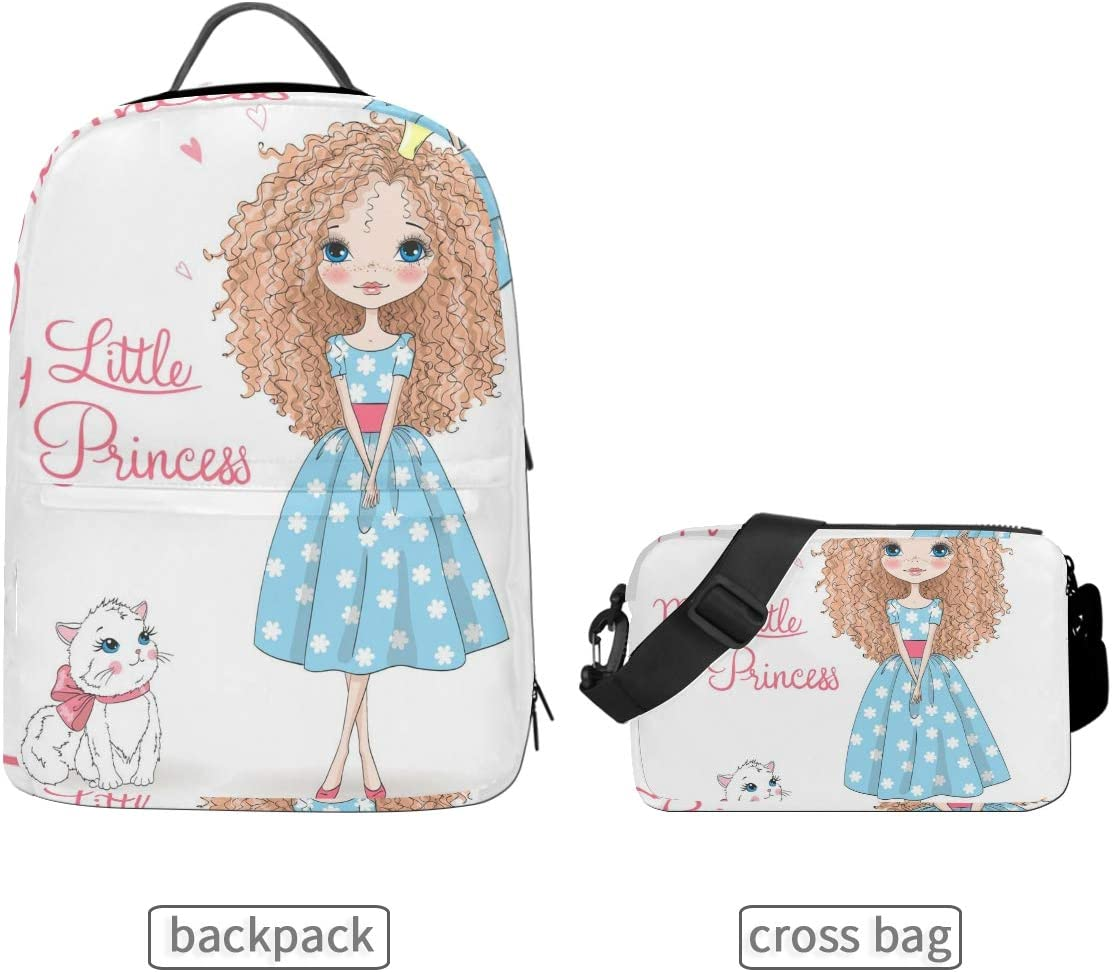 ALLMILL Hand Drawn Beautiful Cute Little Unicorn School Backpack