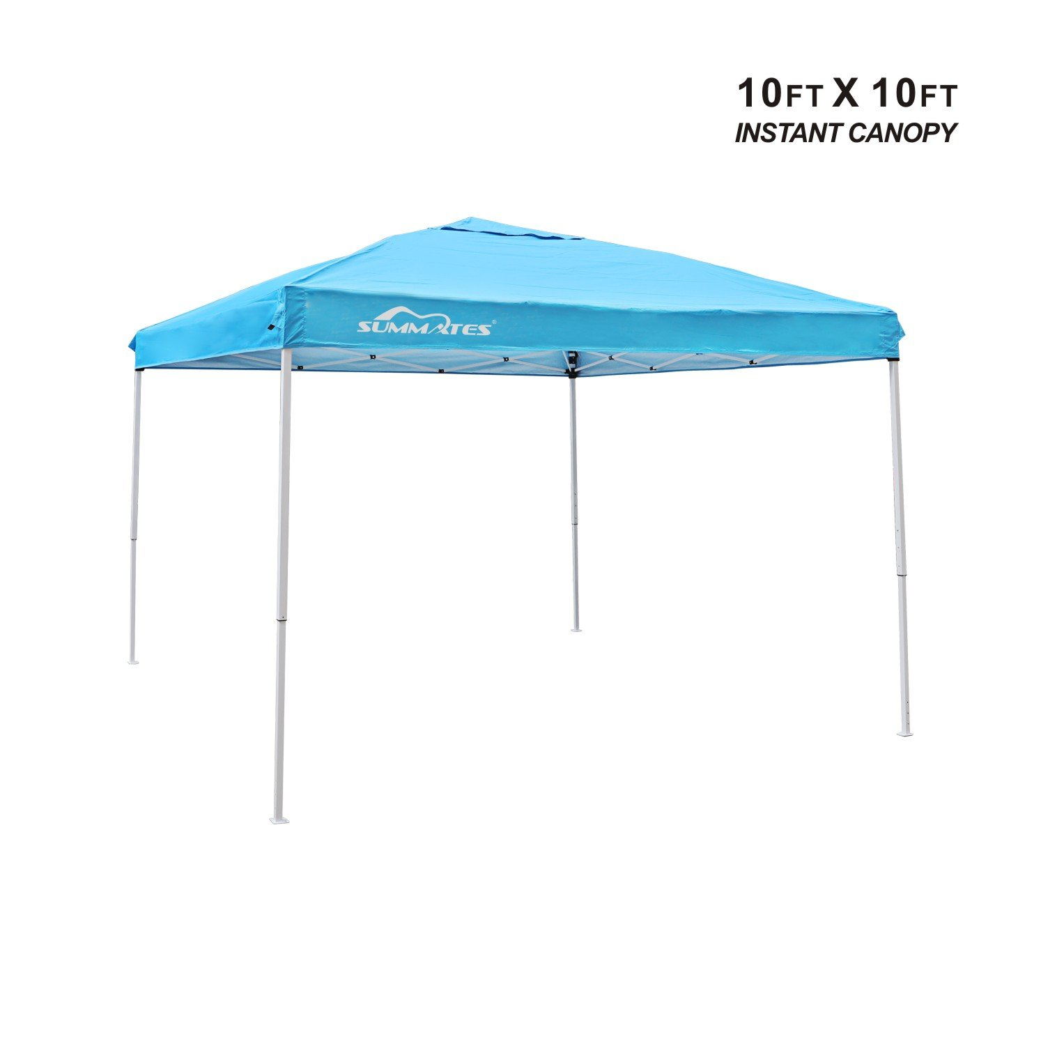 Summates 10X10ft Instant Canopy,Pop Up Canopy,Booth Canopy,Color Light Blue,Royal Blue,Khaki,Green,Gray Aavilable (10 x 10ft, Pacific Blue) by Summates (Image #2)