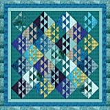 Quilt Kit Ocean Waves, Beautiful Colors of the Ocean/Queen