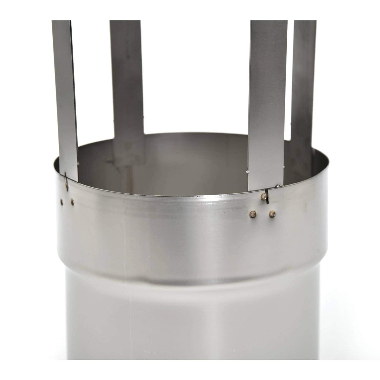 Schornsteinabdeckung Kaminabdeckung mit Einschub /Ø180mm rund V4A Edelstahl