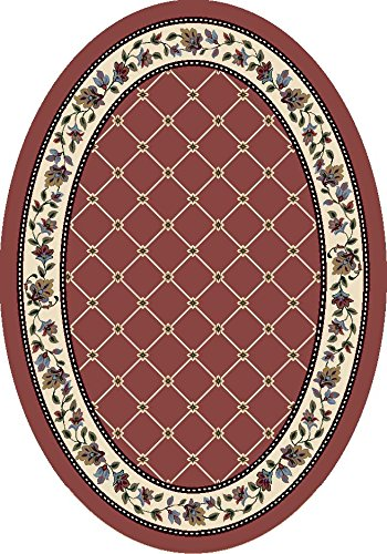 Quartz Rose Rose Milliken (Milliken Signature Collection Symphony Oval Area Rug, 5'4