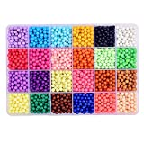 byou Fuse Beads Kit,Aqua Beads Kit 24 Colors 4000 grains in Plasctic Stroage Box with Tools for Kids Children DIY Crafting Educational DIY Toys