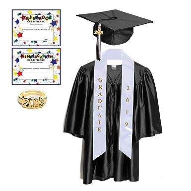 3205cfea8cf Amazon.com  Preschool   Kindergarten Graduation Cap and Gown with ...