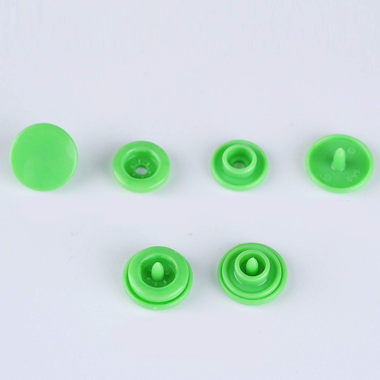 Bottoni Automatici Migavan,360 Set 24 Colori Rivetti in Resina T5 Pulsanti con 1Pcs Pinze a Pressione Manuale Kit di Utensili da Cucito