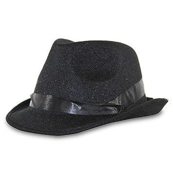 GK  2 x Gangster sombrero Mafia Negro al capone póquer sombrero sombrero  para hombre Carnaval b3e8d0bd762