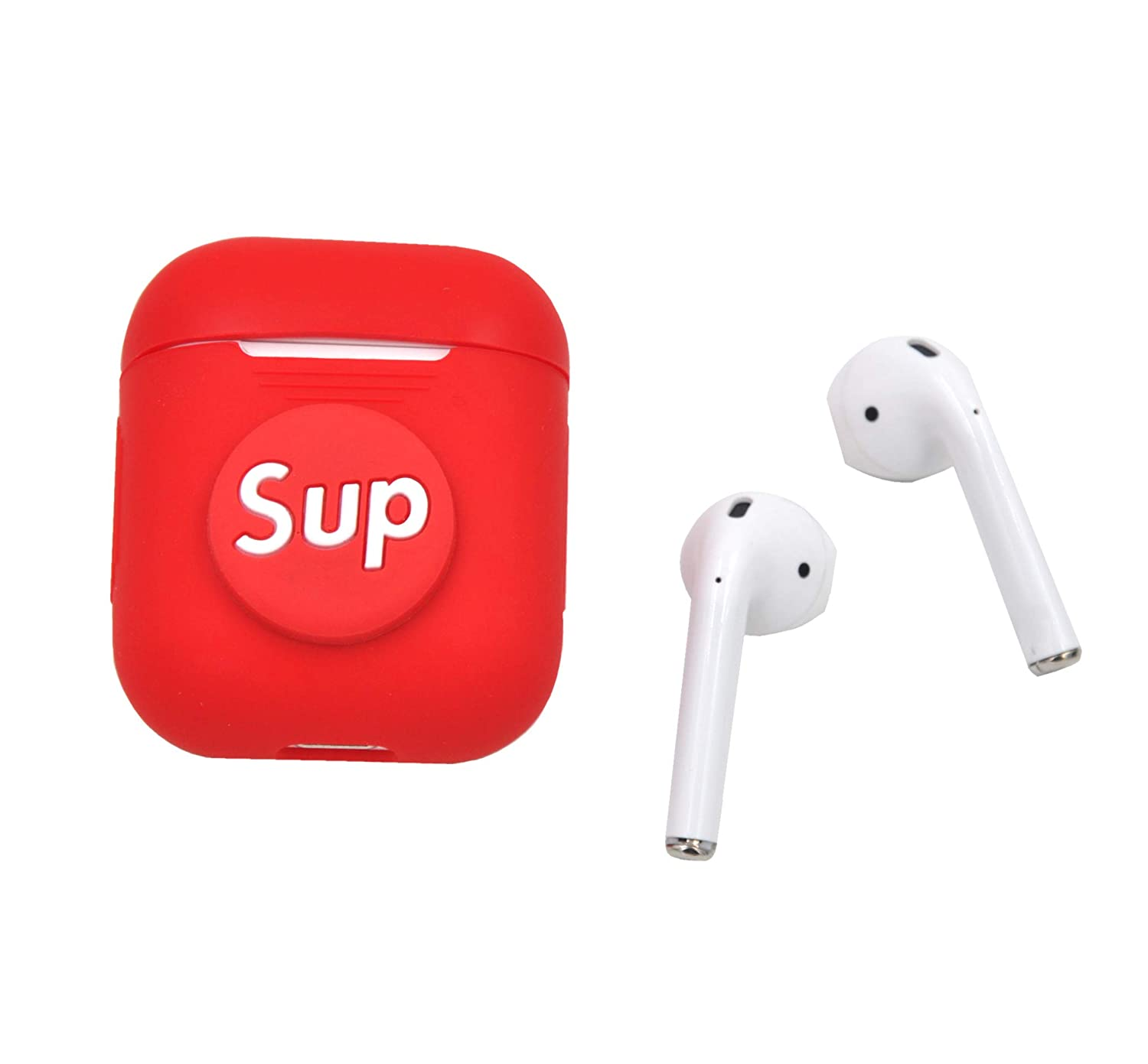 D MagicSkin Compatible for AirPods Case Soft Silicone Shockproof Case Cover and Skin for AirPods Charging Case