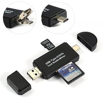 jesauge USB tipo C Micro USB OTG adaptador y lector de ...
