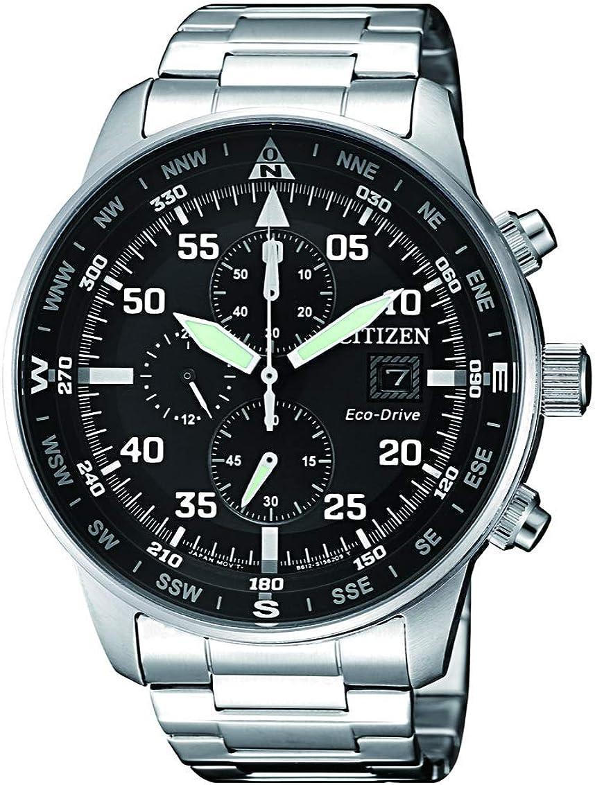 Citizen CA0690-88E Eco-Drive Reloj cronógrafo para hombre con esfera negra