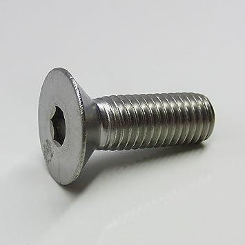 - DIN 7991 rostfrei 30 St/ück Gewindeschrauben M6 x 60 mm Senkkopfschrauben mit Innensechskant Eisenwaren2000 Edelstahl A2 V2A Vollgewinde ISO 10642 Senkkopf Schrauben