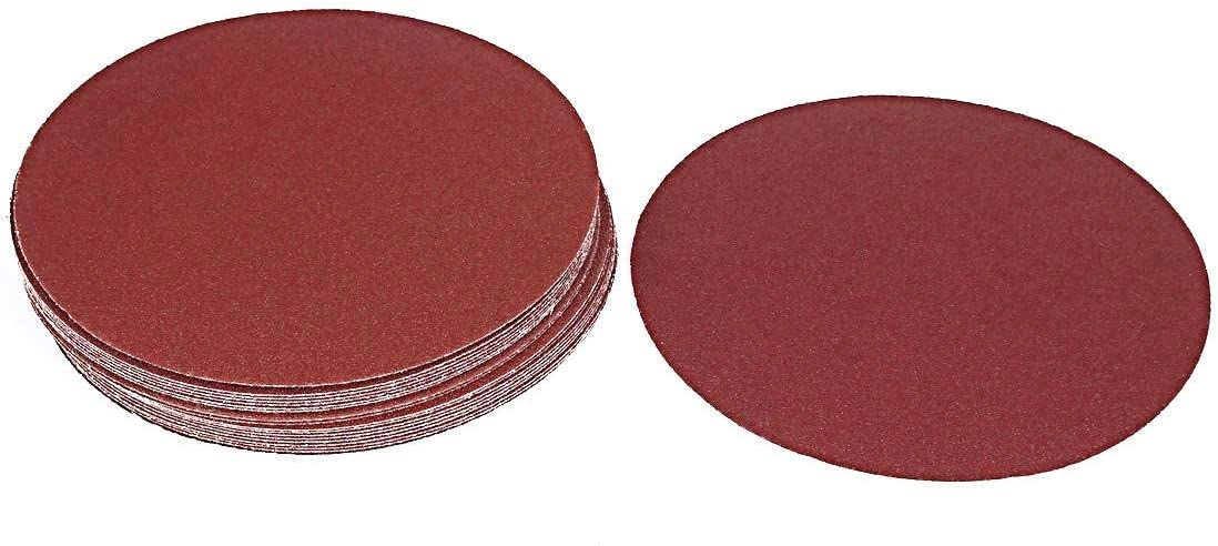 Pack of 20 Rannb Hook and Loop Sanding Discs Sandpaper Discs Sand Sheet 7-Inch 40 Grit