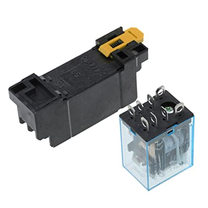 Buy Segolike 8PIN Coil Power Relay DPDT LY2NJ 10A With Socket Base