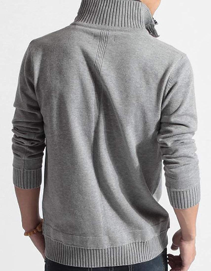 Comaba Men False Two Pieces Long-Sleeve Breathable Jumper Tops