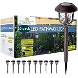 ExcMark - Paquete de 10 luces solares para caminos al aire libre, luces solares de camino, luces solares para jardín y patio
