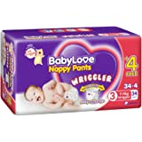 BabyLove Wriggler Nappy Pants 7-11kg (34 pack x 2, 68 Total) + 4 Bonus Pieces per Pack