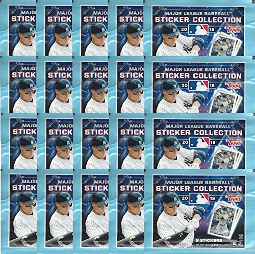 20 PACKS: 2018 Topps MLB Baseball Sticker Collection (160 total stickers)
