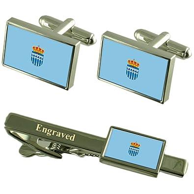Segovia Ciudad Bandera España Gemelos Grabado Set Clip de Corbata ...