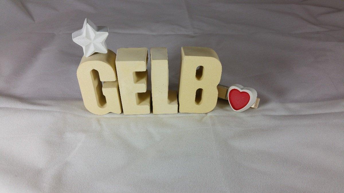 Ein ausgefallenes Geschenk als Deko Schriftzug f/ür einen sch/önen Platz im Home. Steinguss Buchstaben 3 D Deko Schriftzug DAHEIM mit Stern und Herzklammer als Geschenk verpackt Beton