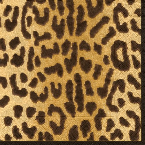 Lunch Luncheon Dessert Paper Napkins Wedding Birthday Jungle Baby Shower Safari Leopard Pk 40]()
