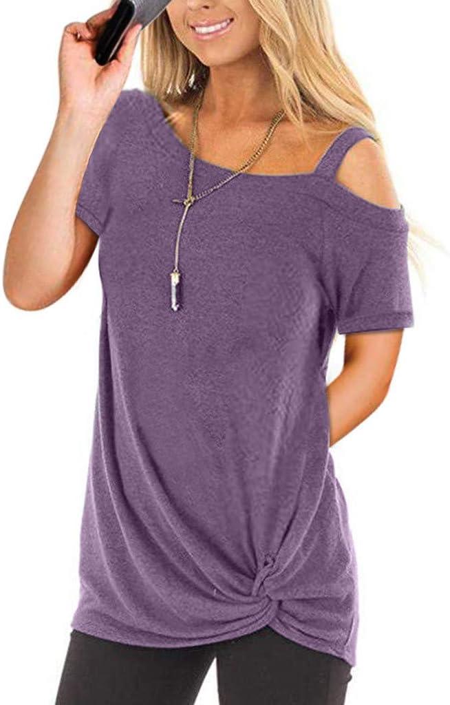 Camisetas Mujer Manga Larga Sexy Ronamick Verano Blusa Blanca Niña Tops Mujer Deporte Verano Camisa Cuadros Mujer (Púrpura,XL): Amazon.es: Iluminación