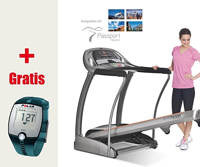 Cinta de correr Horizon Fitness Elite T5000 - Incluye FT1 ...